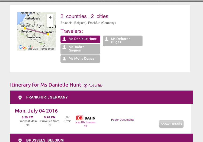 Frankfurt trip planner